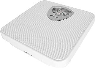 Orbegozo PB 2010 – Báscula de baño mecánica, diseño antideslizante, color blanco