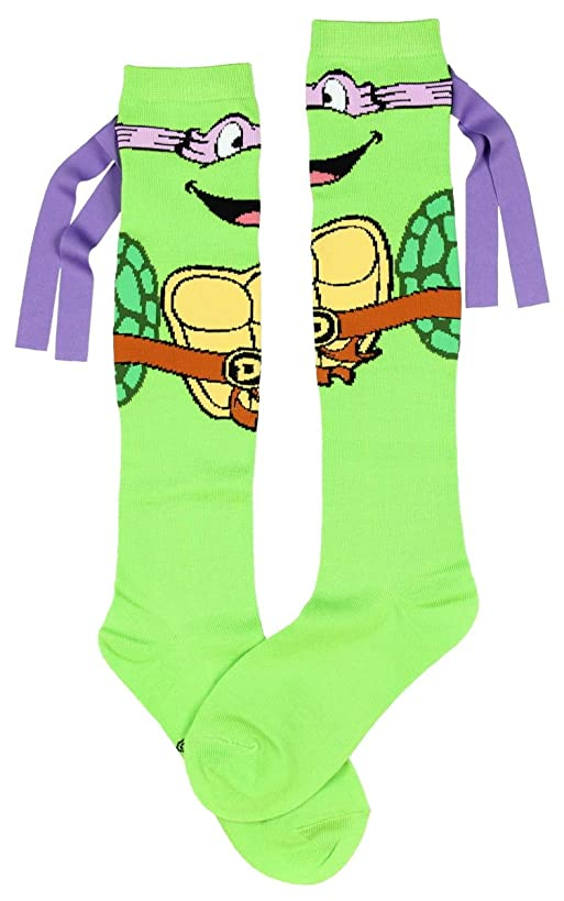 Teenage Mutant Ninja Turtles Don With Mask Knee High Socks