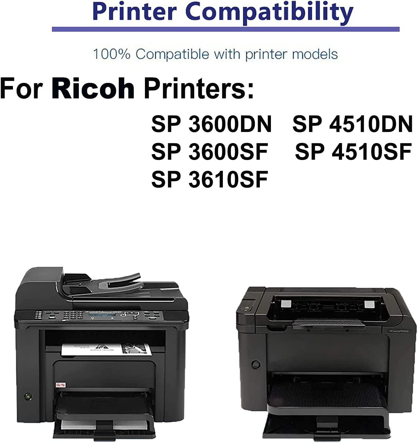 5-Pack Compatible Drum Unit (Black) Replacement for Ricoh 407324 Drum Kit use for Ricoh SP 3600DN, SP 3600SF, SP 3610SF, SP 4510DN, SP 4510SF Printer