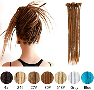 Dreadlocks Extensions Synthetic Dreadlocks Crochet Braiding Hair Soft Faux Locs Fashion Reggae Hair (20 Inch 12 Strands) rochet Braiding Hair(30#)