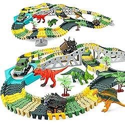 5. EpochAir Flexible Dinosaur Race Track Playset (192pcs)