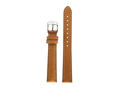 Michele 14 mm Saddle Calfskin Brown (Brown) Watches