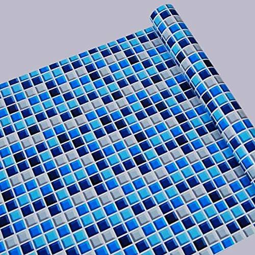 SMXGF 5M / 10M Kitchen Waterdicht behang verwisselbare PVC zelfklevende Behang van de Tegel for badkamer Toilet Pattern Mozaïekmuur Sticker (Color : P1546, Dimensions : 45cmX5m)