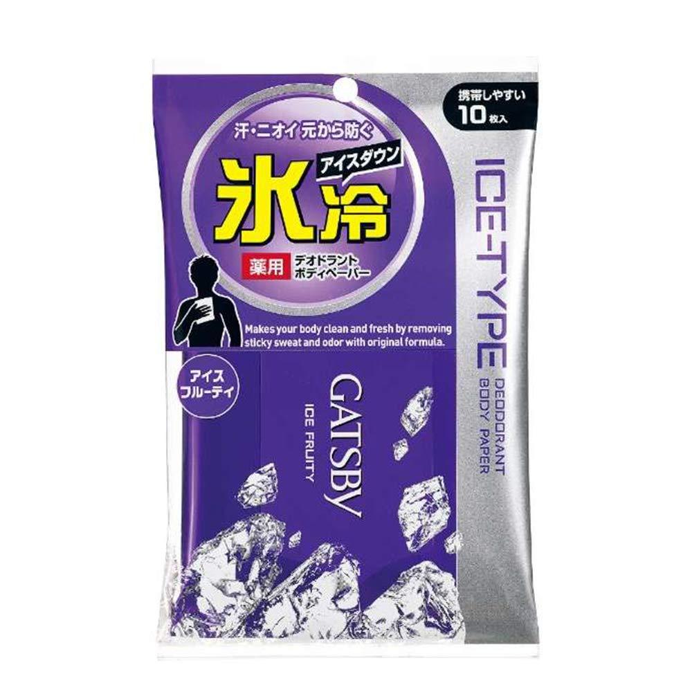 Gatsby Mesa Mall Ice Deodorant Body Luxury goods Paper Pocket Fruity for 1box - 1