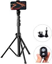 Selfie Stick Tripod, Ruittos 54� Extendable Phone Tripod Ring Light Stand Portable Heavy Duty, with Bluetooth Wireless Remote and Go Pro Adapter Compatible with iPhone 11 X Xs Andrion Phone (E5)