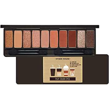 ETUDE HOUSE Play Color Eyes #Caffeine Holic | Vivid 10 Color Eye Shadow Palette with Soft Texture and Daily Deep Coffee Colors | Eyes Makeup | Kbeauty