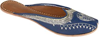 Chumbak Zari Embroidered Owl Slip On Jutti