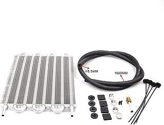 Festnight TOC003 Aluminio Transmisión Remota Sistema de Enfriador de Aceite Coche AC Condensador Aire Acondicionado Convertidor