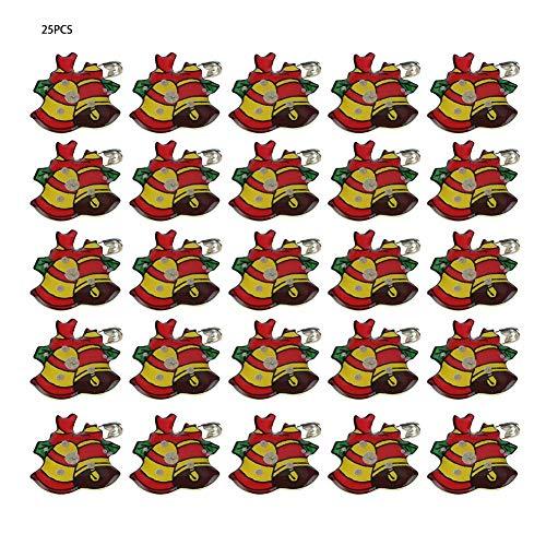 Kerstboom Kerstmis flash pins, 5 nieuwe kerstpatronen LED badge button pin bar party rekwisieten #4