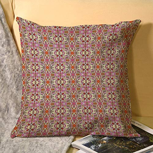 Milady is So Old English Cushion Covers, Decorative Throw Pillow Case Square Pillowcases with Invisible Zipper for Sofa Couch Bedroom Living Room