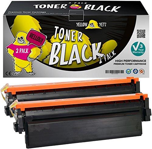 Yellow Yeti 410X CF410X Negro 6500 páginas 2X Cartucho de Tóner Compatible para HP Color Laserjet Pro MFP M377dw M477fdw M477fnw M477fdn M452dn M452dw M452nw [3 años de garantía]