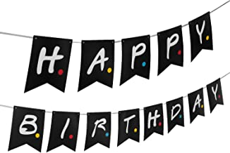 Friends TV Show Happy Birthday Party Banner- Friends TV Show Party Supplies Decorations, Pre-Assemble Happy Birthday Banner Decor Backdrop for Friends TV Show Theme Birthday Party