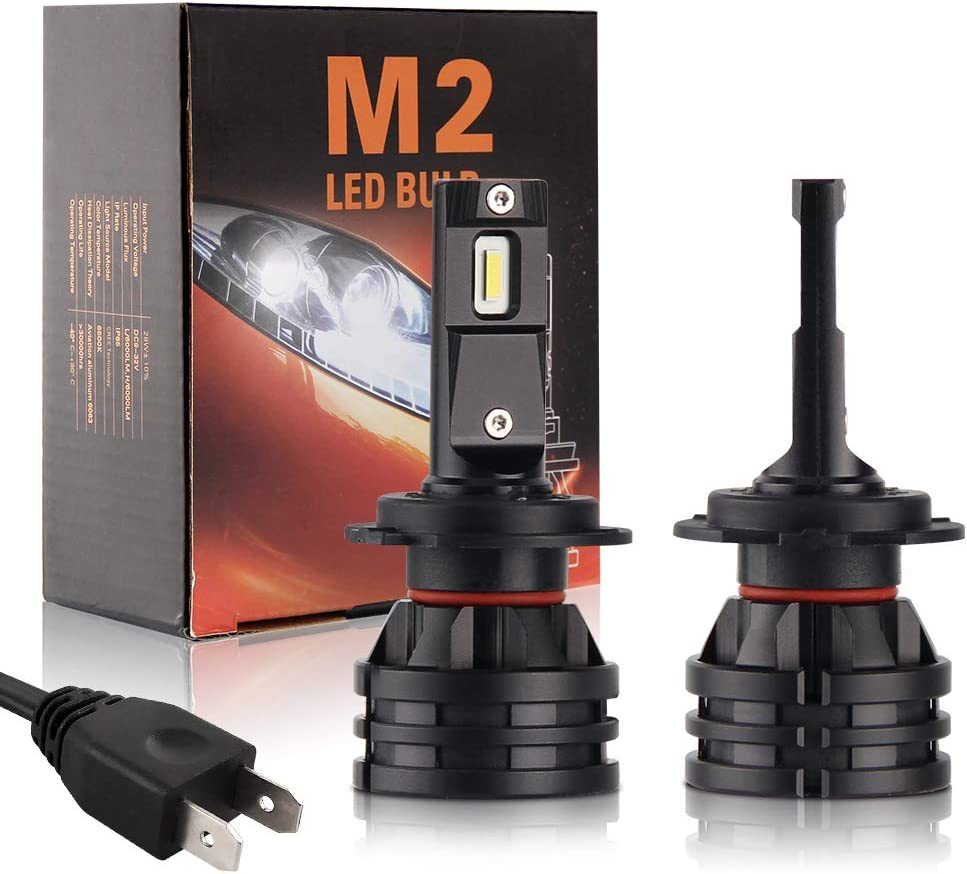 H7 LED Headlight Online limited product Super Special SALE held Bulbs Extremely Bright Pair Waterp 16000 Lumens
