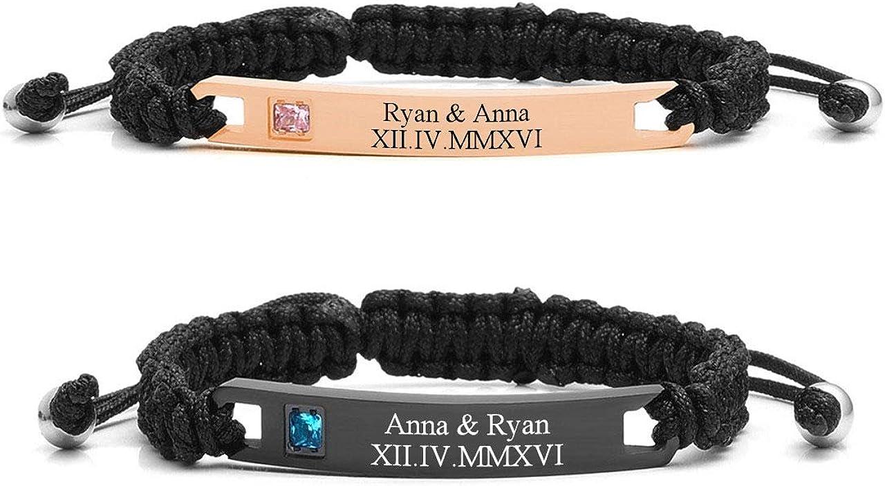 Jovivi Personalized Custom Trust Stainless Braided Steel Luxury Handmade Rope