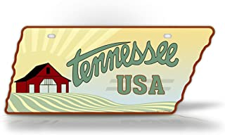 SignsAndTagsOnline Tennessee Farm License Plate Vintage State Shaped Replica Tennessee Antique Auto Tag