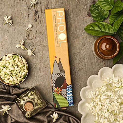 Phool Natural Organic Jasmine Incense Sticks (Agarbatti), 40 Sticks (Pack of 5)