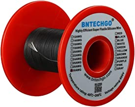 BNTECHGO 30 Gauge Silicone wire spool 50 ft Black Flexible 30 AWG Stranded Tinned Copper Wire