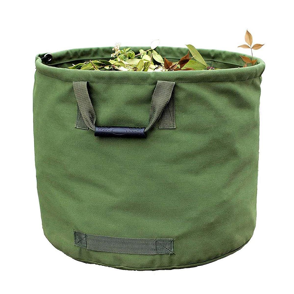 バンカービート鎖庭のゴミ袋、大型の頑丈で強力な庭のゴミ袋、キャンバス生地の防水性と耐摩耗性の防塵リーフバッグ収納袋