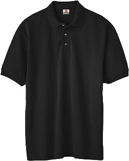 Hanes 054X Adult ComfortBlend EcoSmart Jersey Polo44; Black44; Medium