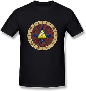 Loyd D Men's Cotton Bill Cipher Gravity Falls Tshirt Black