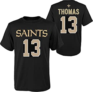 Outerstuff Michael Thomas New Orleans Saints NFL Youth 8-20 Black Official Player T-Shirt (Youth Large 14-16)