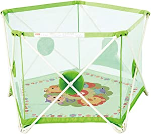 Portable Baby Playpen Foldable Removable Compact Kids Activity Center Prevent Collision With Crawling Mat Safety Play Yard Home For Indoor Outdoor Infant Toddlers Fence