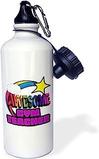 3dRose Shooting Star Rainbow Awesome Gym Teacher-Sports Water Bottle, 21oz (wb_201320_1), 21 oz, Multicolor