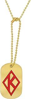 Desert Cactus Kappa Alpha Psi Fraternity Gold Dog Tag Necklace Greek Nupe (Dog Tag w/Diamond)