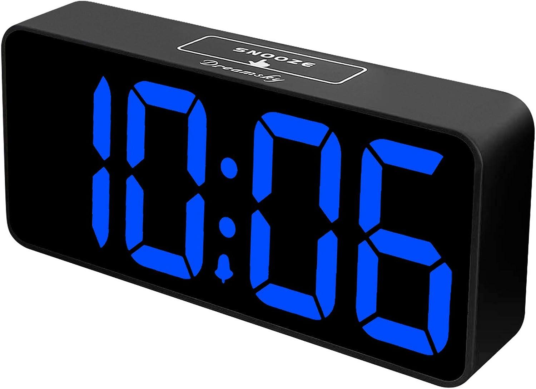 DreamSky Large Digital Alarm Clock for Visually Impaired - 8.9 Inches Big Digital Clock for Bedroom, Fully Adjustable Dimmer, Jumbo Number Display, USB Ports, 12/24H, Snooze, Adjustable Alarm Volume