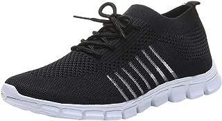 Deloito Damen Sneaker Leichte Modische Turnschuhe Fliegendes Weben Socken Sport Schuhe Schüler Freizeit Atmungsaktiv Laufschuhe