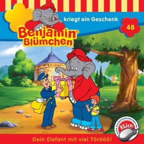 Benjamin kriegt ein Geschenk (Benjamin Blümchen 48) Titelbild