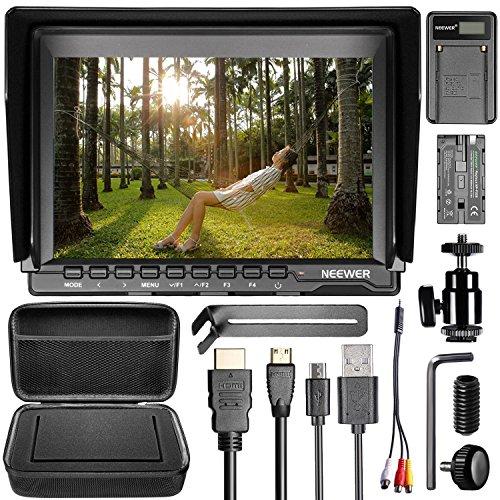 Neewer NW759カメラフィールドモニタキット 7-in Ultra HD 1280x800 IPSスクリーンフィールドモニター+ F5...