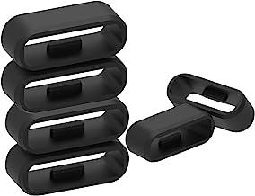 Compatible with Garmin Forerunner 45/Forerunner 45S/Swim 2 Bands Fastener Rings Strap Fastening Loop Rubber Buckle Holder ...