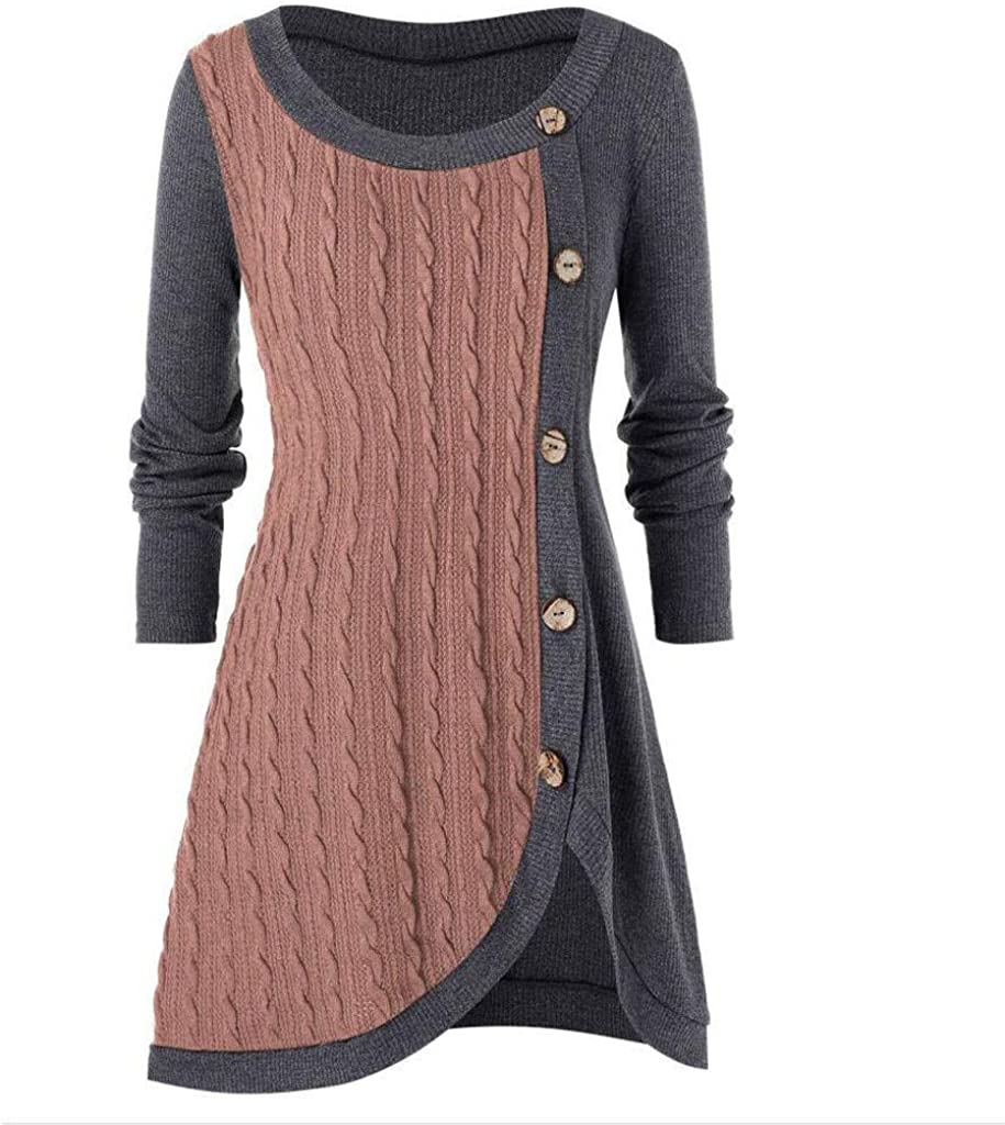 YOMXL Autumn Winter Free Shipping Cheap Bargain Gift Plus Size O-Neck Women Sweater Lo Asymmetric Now on sale