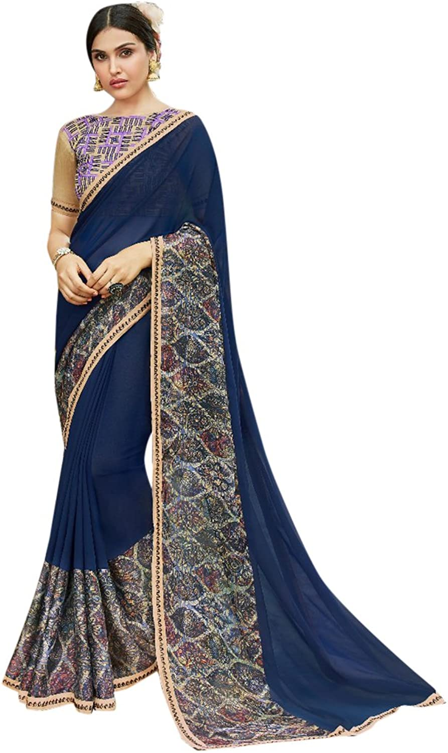 Designer Bollywood Formal Wear Saree Sari for Women Latest Indian Ethnic Wedding Collection Blouse Party Wear Festive Ceremony 2620 10