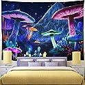 "Wekoxo 59.1"" x 82.7"" Psychedelic Starry Sky Mushroom Wall Tapestry"