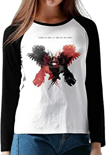 Kings Of Leon - Only By The Night Womens Jersey Shirt Raglan Long Sleeve Crazy Tees