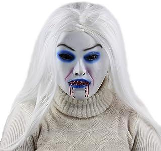 ZJMIYJ Halloween-mask, vithårig häxa Máscara De Disfraces De Látex De Halloween Máscara De Cosplay De Terror Accesorios De...