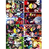 Naruto Posters Japanese Anime Poster Set of 8 PCS Art Prints for Home Wall Decor, 11.5in x16.5in (Naruto)