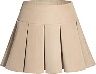 GAZIAR School Uniform Skirt for Girls Pleated Skort Kids Adjustable Waist Skater Skirt