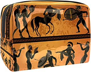Greece Black Figure Pottery Ancient Greek Mythology Centaur Makeup Bag Waterproof Toiletry Bag with Zipper