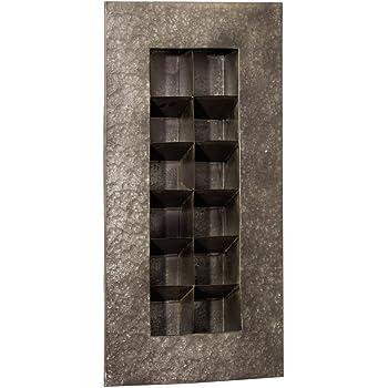 Zinc 12 Pocket Wall Planter Color: Black Zinc