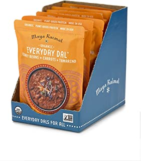 Maya Kaimal Organic Indian Kidney Bean Everyday Dal, 10 oz (Pack of 6), Fully Cooked with Carrots and Tamarind. Vegan, Microwavable, Ready to Eat