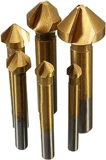 面取りカッター 面取カッター 工具 金属 プラスチック 加工 6本 セット (ヘッド部分直径: 6.3mm、8.3mm、10.4mm、12.4mm、16.5mm、20.5mm)
