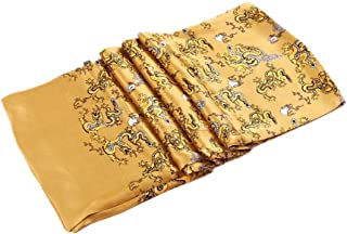 Double Layer 100% Genuin Silk Nature Silk Foulard Scarf For Man Dragon Patterned