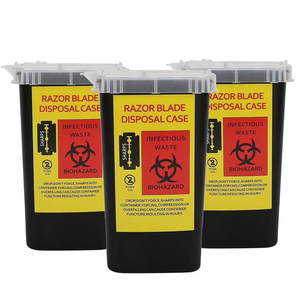 3pcs Sharps Cheap sale Container Razor Blade Tattoo Disposable Plastic Case 35% OFF