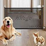 Nifogo Magic Gate Porte Magique pour Chiens - Barrière de Rétractable Pliable,pour...