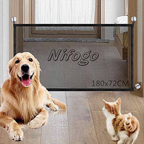 Nifogo Magic Gate Dog - Barrera de Seguridad Plegable Portátil para a
