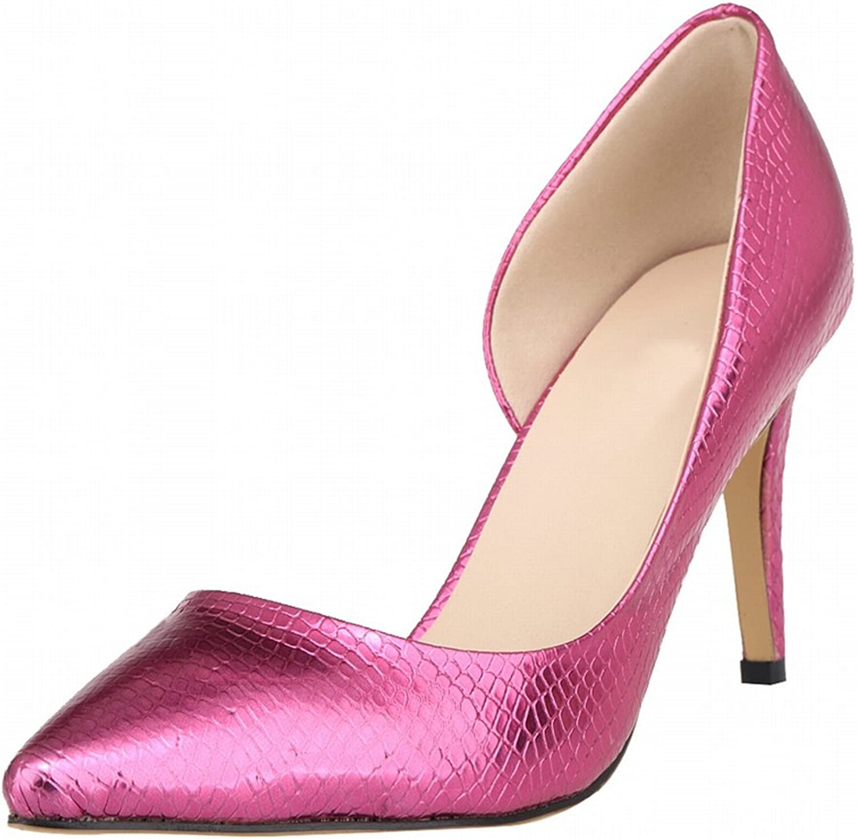 Meijunter Spring Women Side Empty Stiletto Crocodile High Heels Shallow Mouth Pumps shoes