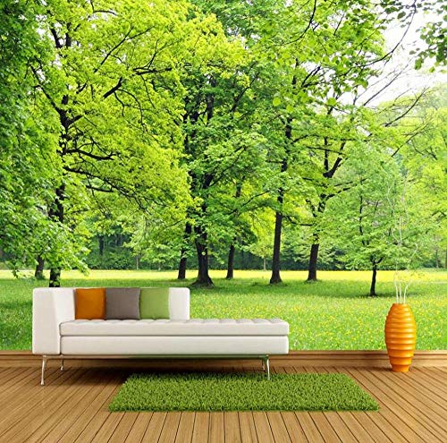 3D no tejido Papel tapiz Mural Pared Mural Papel tapiz Verde Bosque...